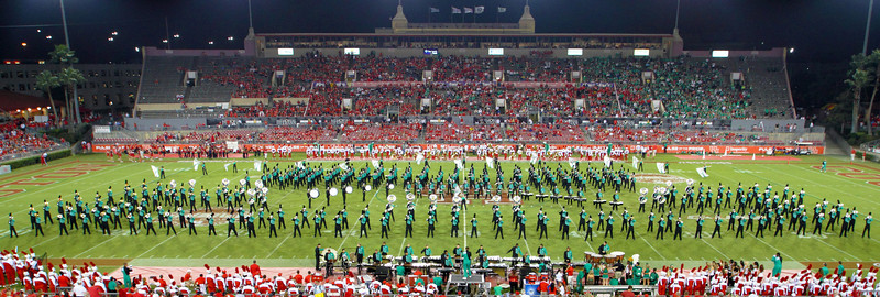 The UNT marching band