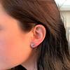 3.47ctw Blue Zircon Hexagon Stud Earrings 2