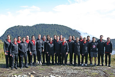 Canada Lacrosse Association - WILC2019 Team Photo on Grouse Mountain