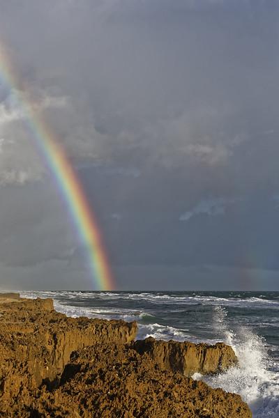 Double rainbow over Ross Witham Beach on Hutchinson Island