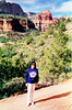 Hiking in the red rock canyons Sedona, AZ December 1994