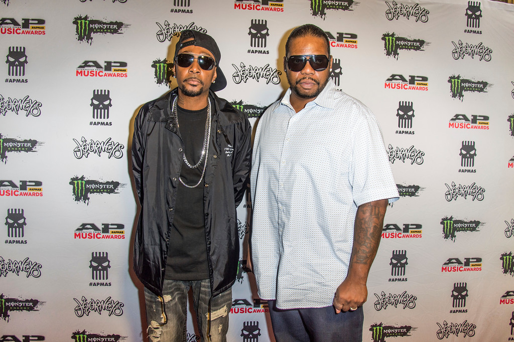. Krayzie Bone, left, and Wish Bone of Bone Thugs-N-Harmony seen at 2017 Alternative Press Music Awards at the KeyBank State Theatre on Monday, July 17, 2017, in Cleveland. (Photo by Amy Harris/Invision/AP)