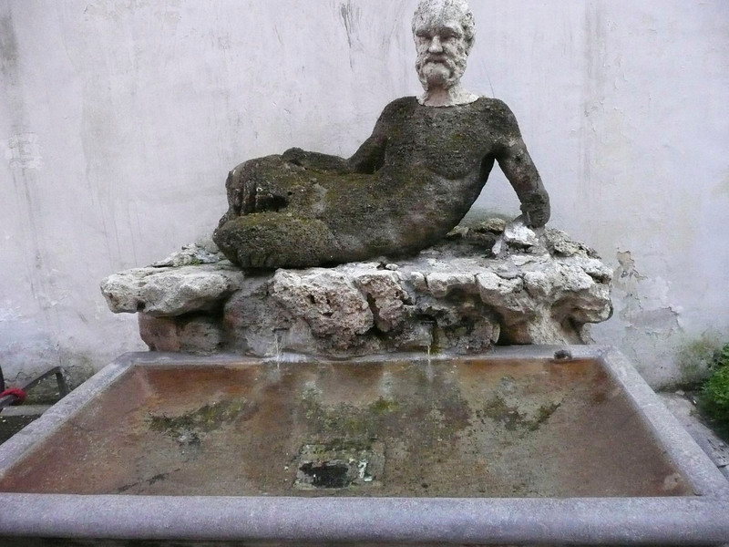Moss statue, Rome, Italy