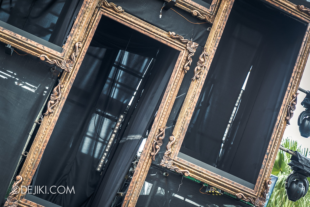 Halloween Horror Nights 7 Preview Construction Update Before Dark 3 - 7SINisters Stage Frames closeup