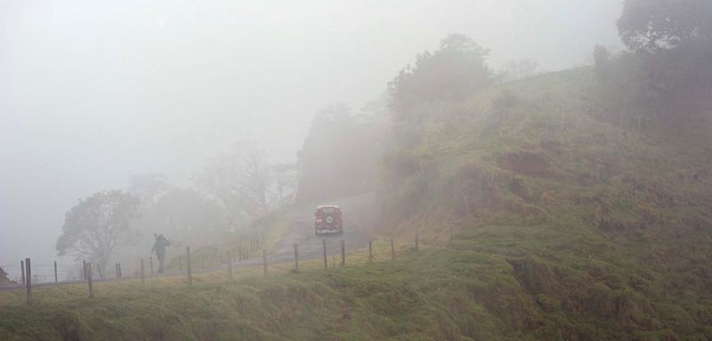 Road from Volcán Poás to Bosque de Paz Reserva Biologica