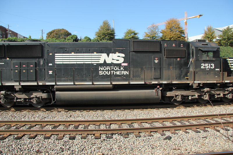 NS 282-06 Jacksonville-Chicago NS7599 NS2513 intermodal NS Circle Atlanta, GA