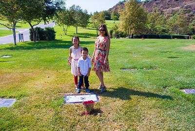 Visiting Grandma at Rose Hills:  July 19, 2015