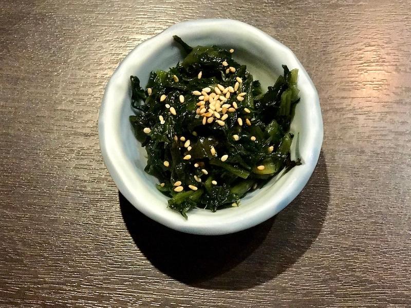 Sauteed Nozawana - a kind of Japanese mustard leaf.