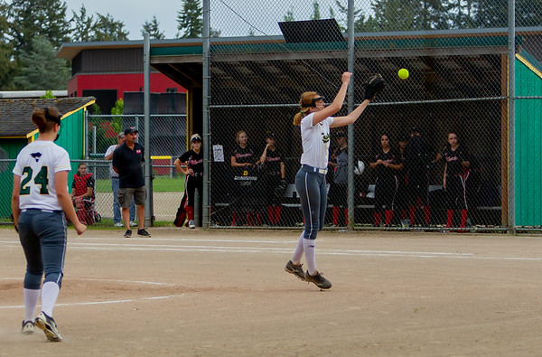 Set seven the Seniors Night game: Vashon Island High School Fastpitch v Seattle Christian