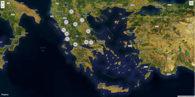 Map - Photo locations Greece - the main land
