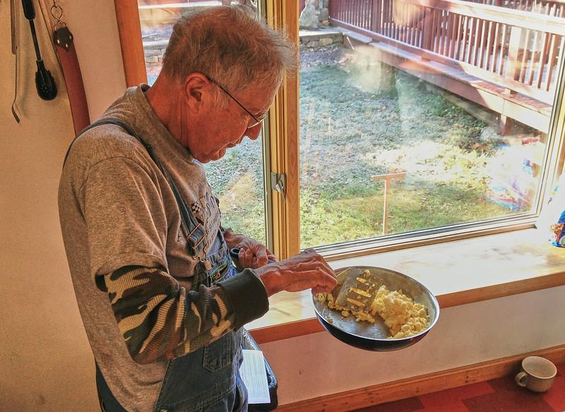 Larry Lebin, cooking us breakfast. Dec 4 2011