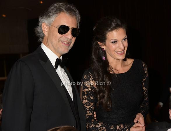 Andrea Bocelli and wife Veronica Berti photo by Rob Rich/SocietyAllure.com © 2014 robwayne1@aol.com 516-676-3939
