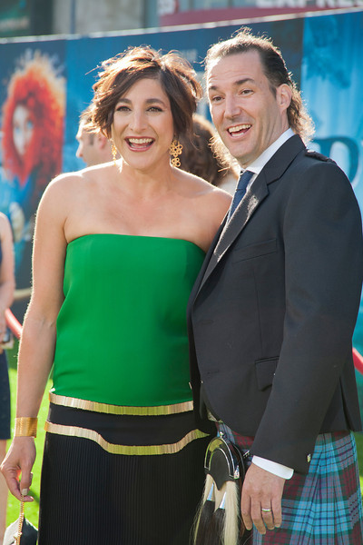 HOLLYWOOD, CA - JUNE 18: Producer Katherine Sarafian (L) and director Mark Andrews arrive at Disney Pixar's 'Brave' World Premiere at Dolby Theatre on June 18, 2012 in Hollywood, California. (Photo by Tom Sorensen/Moovieboy Pictures)