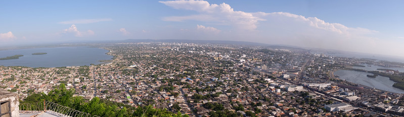 Cartegena, Colombia, looking southeast. Population 971,000 (2016).