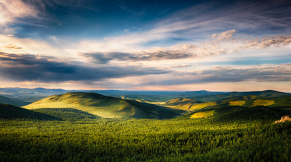 View of the Mongolians Hills