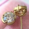 2.23ctw Old European Cut Diamond Stud Earrings 5