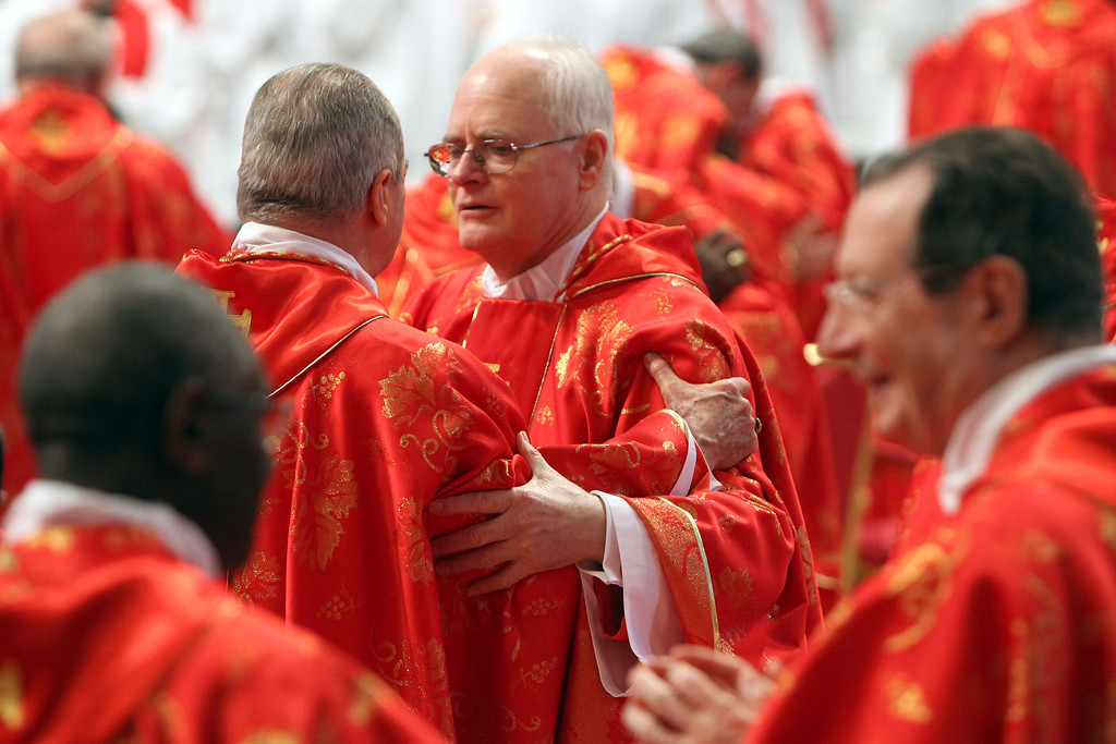 . Brazilian Cardinal Odilo Schrerer attends the Pro Eligendo Romano Pontifice Mass at St Peter\'s Basilica, before they enter the conclave to decide who the next pope will be, on March 12, 2013 in Vatican City, Vatican. Cardinals are set to enter the conclave to elect a successor to Pope Benedict XVI after he became the first pope in 600 years to resign from the role. T (Photo by Franco Origlia/Getty Images)