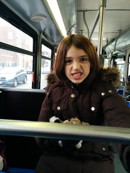 Angry bus face.