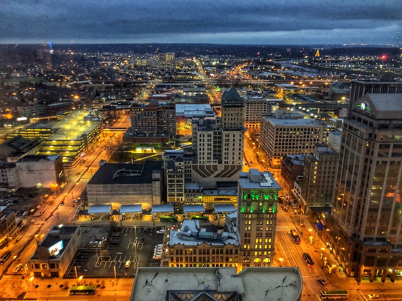 Downtown Dayton from Above 2019