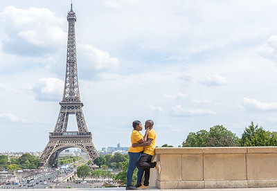 Eiffel Tower Engagement Session (Paris, France)
