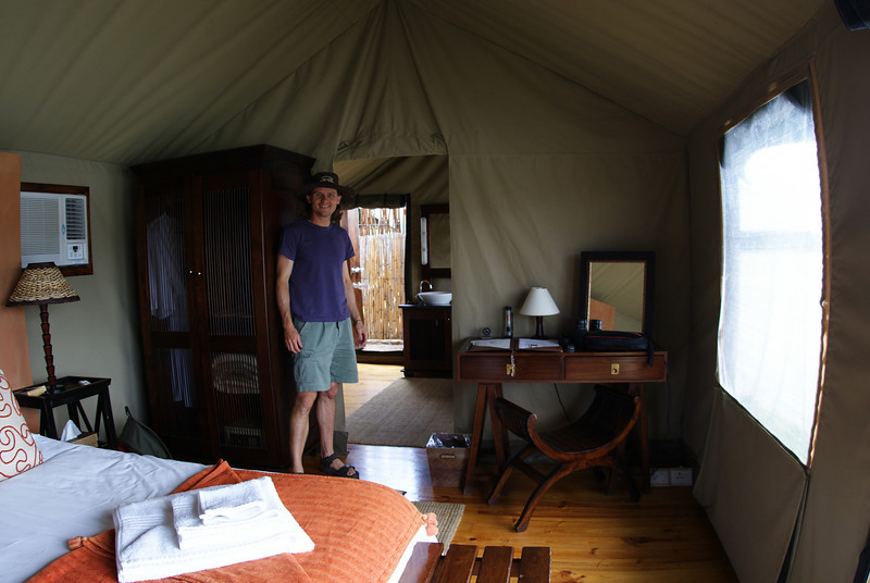 Here is our luxury tent at Buffelsdrift Game Lodge.