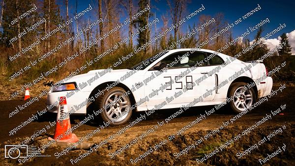 358 White Mustang