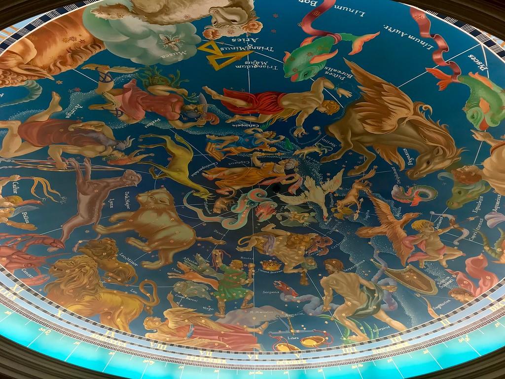 The ceiling mural at Magellan's.