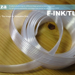 SKU: F-INK/TUBE4, 8 Tubes in a Row 4(Outer Diameter/3(Interior Diameter) Solvent Resistant Transparent Soft Plastic Ink Tubing