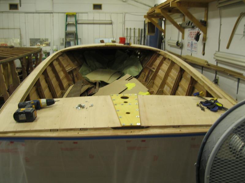 Rear deck king plank installed.
