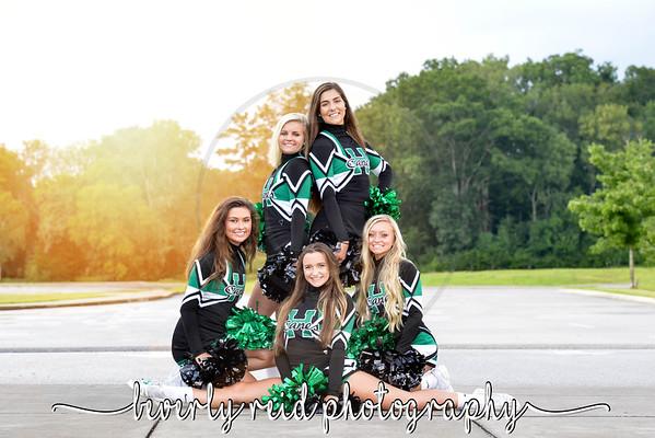 2018-2019 EHHS Senior Cheerleaders