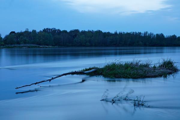La Loire nocturne à Bou