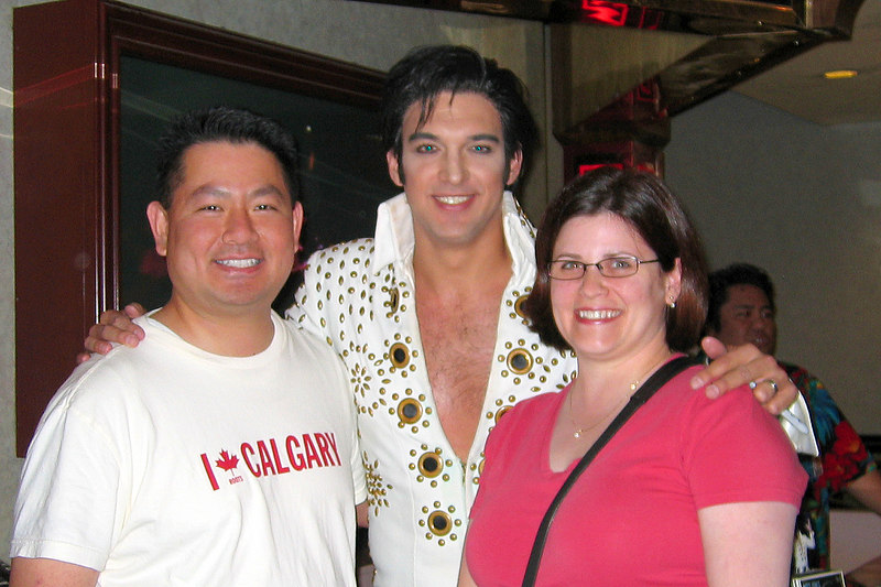 Posing with Elvis was a fitting end to our time in Las Vegas. This Elvis is Matt Lewis, the best Elvis we've seen and heard so far!