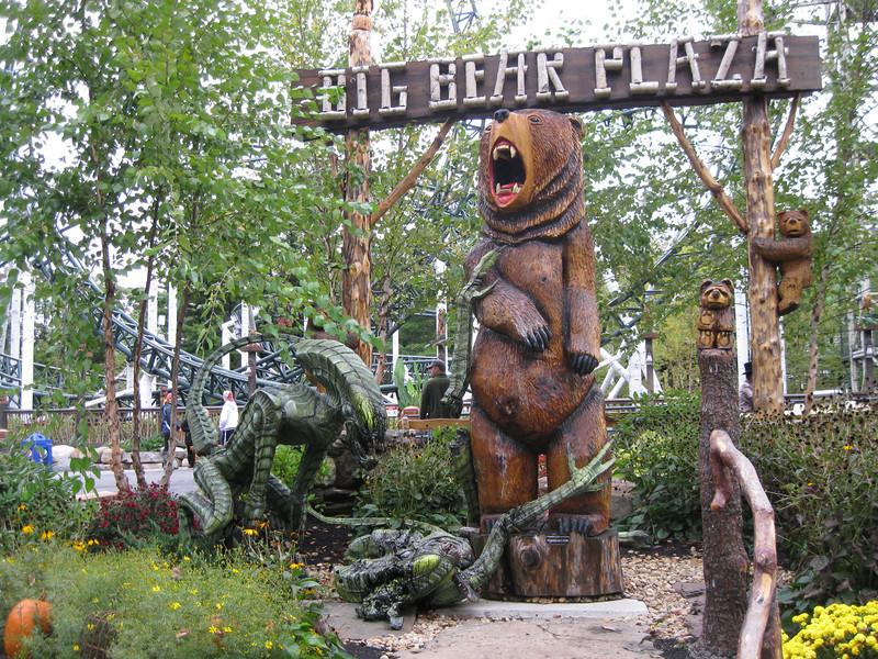 Theming at Big Bear Plaza.
