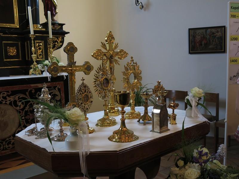 Wertvoller Kirchenschatz in der Kapelle St. Andreas in Buchs