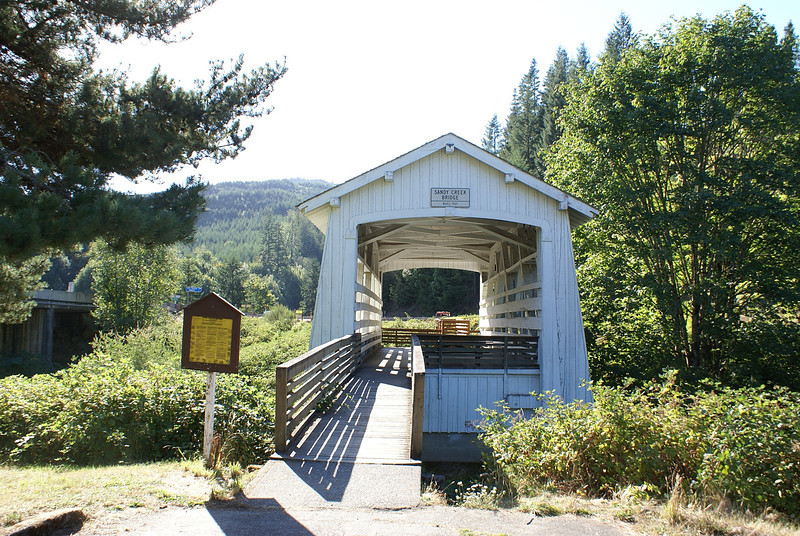 Covered in bridge on the way to Roseburg