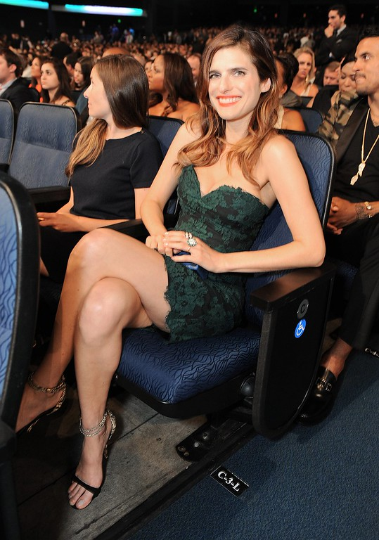 . Lake Bell poses in the audience at the ESPY Awards on Wednesday, July 17, 2013, at Nokia Theater in Los Angeles. (Photo by Jordan Strauss/Invision/AP)