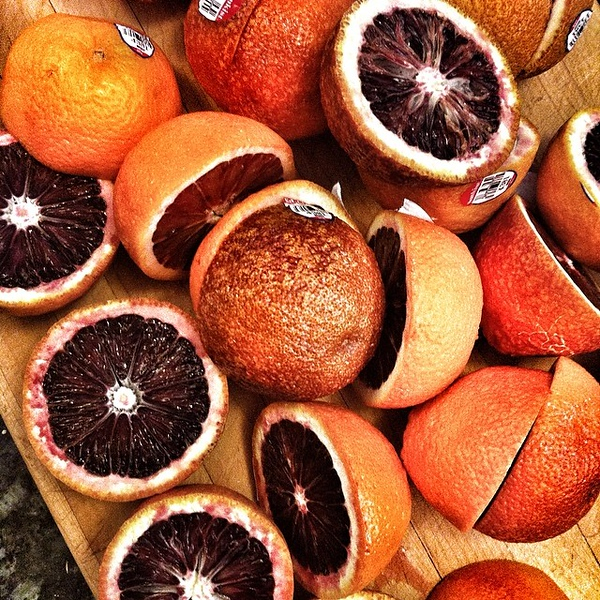 Juicing blood oranges. cc @jennyheinrich @robinigruen