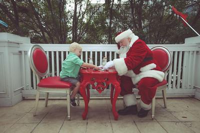 Hilding and Sixten meet Santa at Sweet Pete's Candy