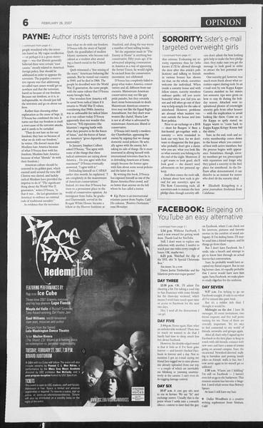 Daily Trojan, Vol. 160, No. 31, February 26, 2007