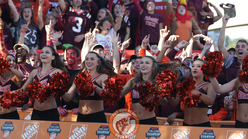 The Virginia Tech High Techs took part in the GameDay production. (Mark Umansky/TheKeyPlay.com)