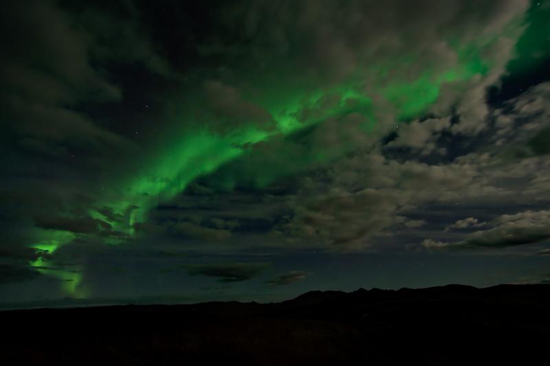 Clouds and aurora