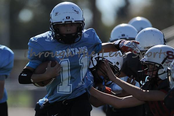 Rebels vs. Spartans Junior Midget Pop Warner football