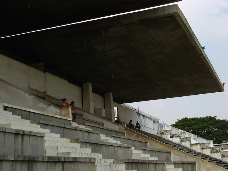 Stands at the pool - Olympic Stadium complex.