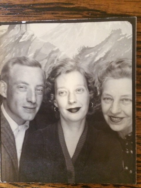 ". From Ktcakes: ""Uncle Pete, Mom and Grandma in picture booth.\"""
