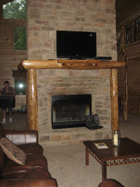 Fireplace on main floor.