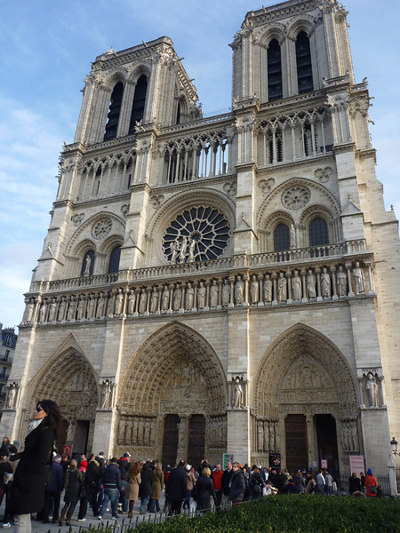 Notre Dame had a long line to get in so we didn't go inside