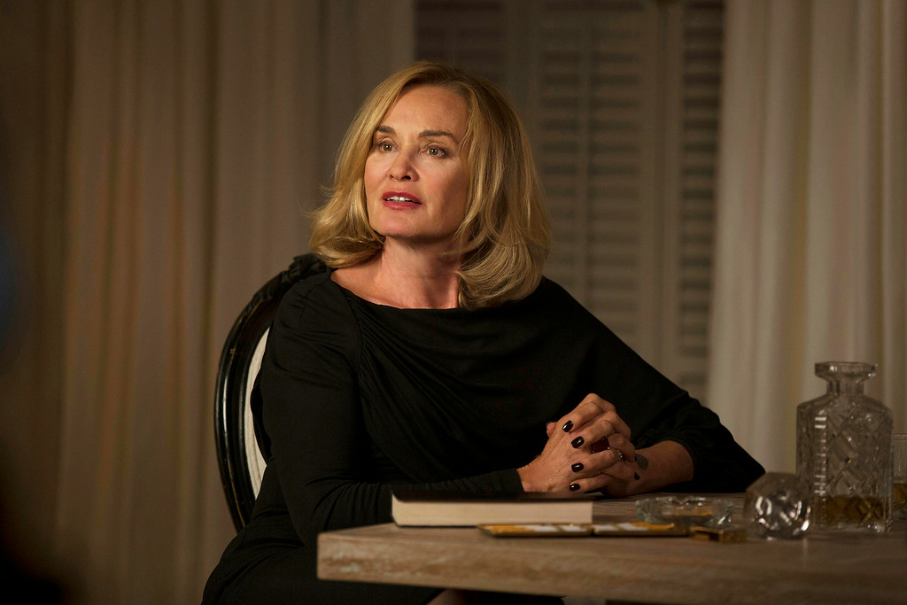 """. This image released by FX shows Jessica Lange as Fiona in a scene from \""""American Horror Story: Coven.\"""" Lange was nominated for an Emmy Award for best actress in a miniseries or movie on Thursday, July 10, 2014. The 66th Primetime Emmy Awards will be presented Aug. 25 at the Nokia Theatre in Los Angeles. (AP Photo/FX, Michele K. Short)"""