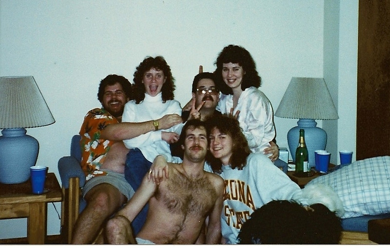 New Year's Eve 1990 at Fauster's place.