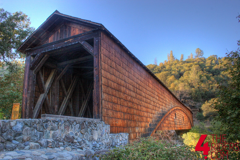 HDR shot of the biggest single span covered wooden bridge in california...maybe in the universe?