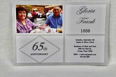 9-4-2021 Gloria & Frank 65th Anniversary @ Watts